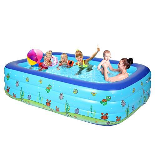 Aufblasbarer Kinderpool, Rechteckiger Großer Wasserpark, Kinderpool Für Erwachsene, Geeignet Für Garten Und Außenbereich