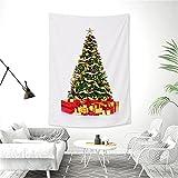 YYRAIN Colgante De Pared Rectangular Árbol De Navidad Tela Colgante Hogar Decoración De Pared Tela Sala De Estar Dormitorio Tapiz 145x215cm