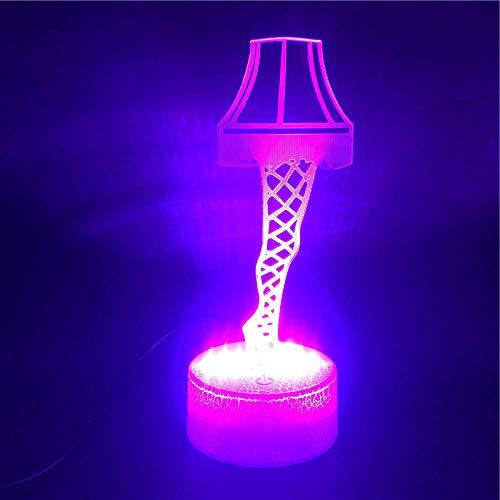 Lámpara De Ilusión 3D Luz De Noche Led Control Inteligente Lámpara De Mesa Alta Mejor Precio Para Adolescente Usb Supply Decoración De Interiores De Dibujos Animados