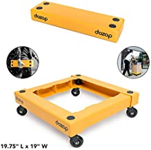 Dozop Self-Contained Compact Dolly - Portable Multipurpose Four Wheel Moving Cart - Lightweight & Heavy Duty Handtruck/Push Trolley - Small Box & Appliance Mover for Home in Retail Packing