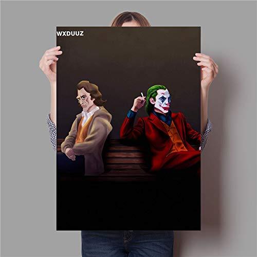 N / A Parodie Joker Malerei Qualität Wohnkultur Kunst Dekor lebende Wandkunst Kinderzimmer Kinderzimmer Poster Leinwandmalerei60x90cm