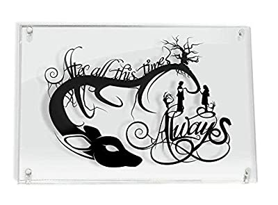 Always Snape and Lily Harry Potter After All This Time - FRAMED hand cut paper art by