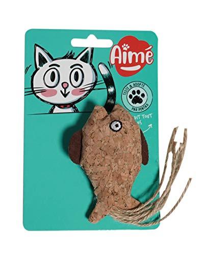 Aime Katzenspielzeug aus Naturkork, 9 cm, mit Katzenminze, ideal für die Krallen