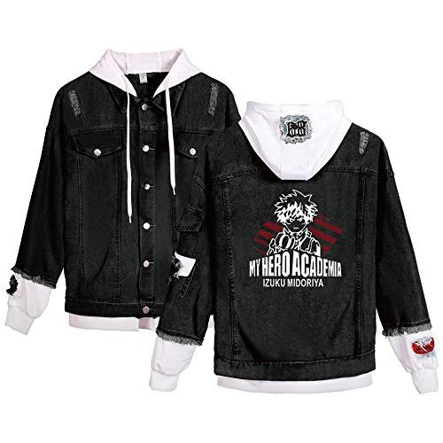 Anime spijkerjasje My Hero Academia Volwassen cosplay denim jassen met capuchon Casual uitloperjas