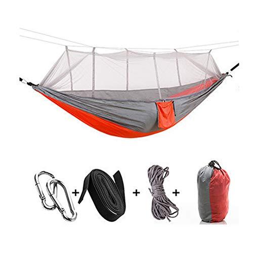 Outdoor Klamboe Parachute Hangmat, 440 Pond Belasting, Draagbare Tweepersoons Hangmat,Orange