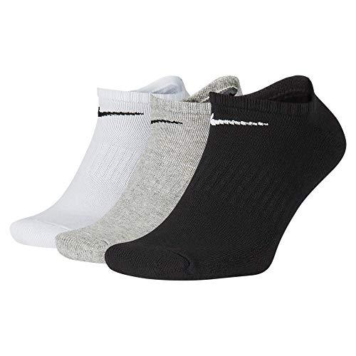 NIKE Everyday Cushion No-Show Training Socks (3 Pair) Calcetines, Unisex Adulto, Multi-Color, Large