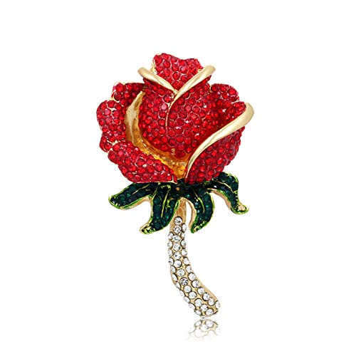 HUNANANA Broche De Diamantes De Imitación para Mujeres Bailarinas Labios De Tacón Alto Ojo Flor Color De Rosa Estrella De Mar Surtidos Broches De Moda Broches