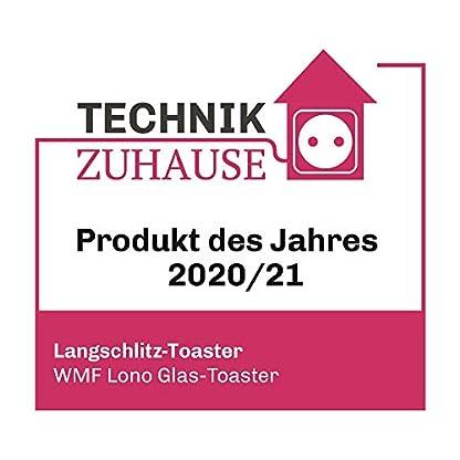 WMF-Lono-Toaster-Glas-mit-Broetchenaufsatz-2-Scheiben-XXL-motorisierte-Toastaufnahme-Aufwaerm-Funktion-7-Braeunungsstufen-Toaster-edelstahl-matt