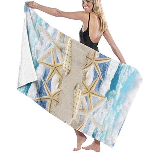 Zhung Ree - Toalla de baño para piscina, estrellas de mar, toalla de playa, toalla grande, ducha para niños, manta ultra suave, tela deportiva de 32 x 52 pulgadas