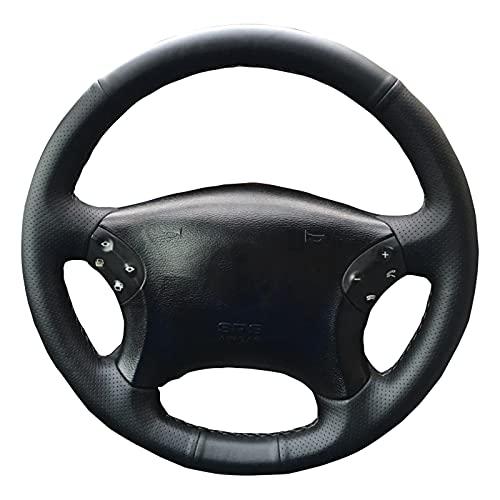 Cubierta del Volante Cosida a Mano, Apta para Mercedes Benz W203 Clase C 2001-2007 Cuero, Antideslizante, Transpirable
