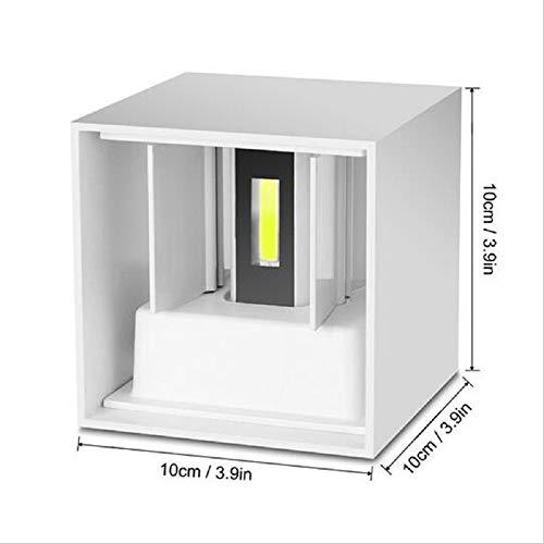 Moderne waterdichte kubus verstelbare 6W pijler LED wandlamp buiten, boven en onder IP65 aluminium wand licht tuin portaal wandlamp-decoratielicht 4 inch, warm wit 3000 k