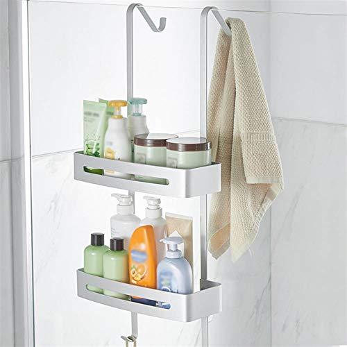 WHBGKJ Estantes de baño Cuarto de baño Estante de Cocina Marco Estantes de Ducha Aluminio Aleación Champú Almacenamiento Rack Titular de Colgante Tapa de baño Accesorios de baño