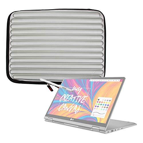 DURAGADGET Funda Gris con Espuma de Memoria Memory Foam para Portátil Samsung Notebook 9 Pro 15 2019 - ¡Protección Ideal!