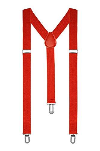 Boolavard Tirantes de talla única totalmente ajustables en forma de Y con clips fuertes -  Rojo -  talla única