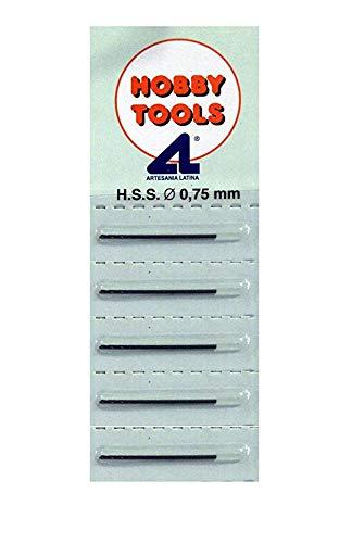 Outletdelocio. Conjunto 5 Mini Brocas Acero HSS 0.75mm de Acero Cobalto. Aptas para Todos Materiales. 51422-5