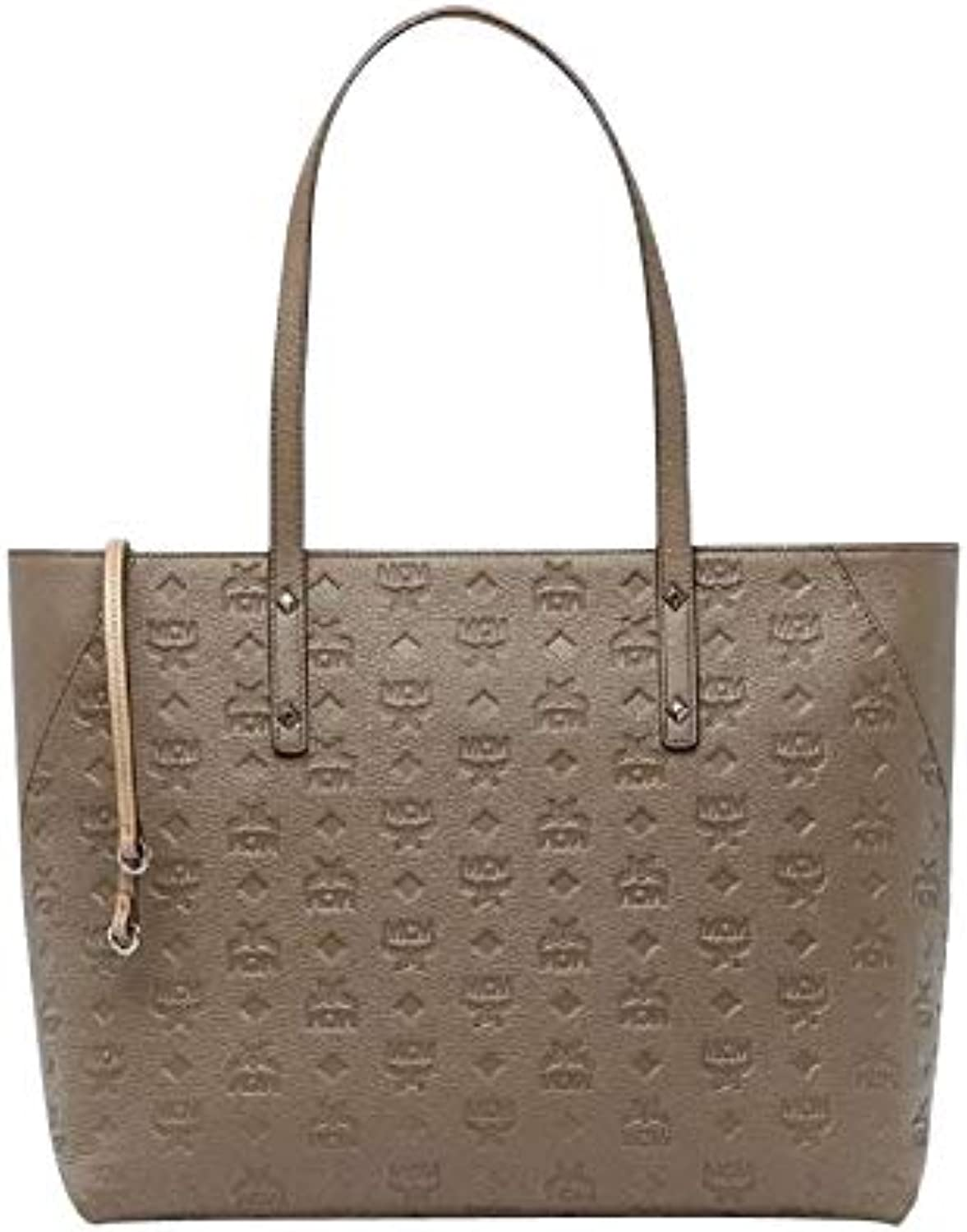 MCM Women's Taupe Leather Zip Bag Tote MWP8SKM51NV001 (Medium)