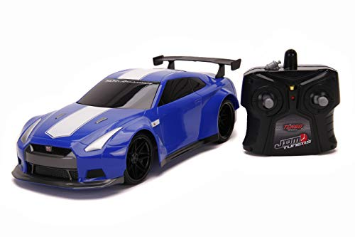 Jada Toys JDM Tuners 1:16 2009 Nissan GT-R R35 50th Anniversary RC Remote Control Car 2.4GHz Blue, Toys for Kids and Adults