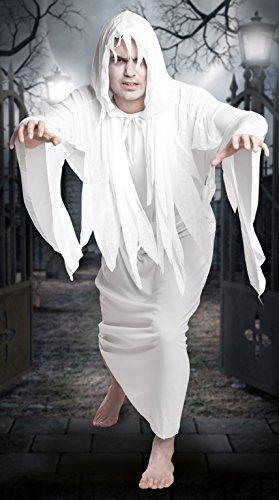 Boland- Costume Fantasma Adulto Creepy Ghost, Bianco, Taglia 54/56, 79031
