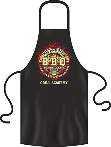 Rahmenlos Original BBQ BBQ schort: Low and slow BBQ - Grill it with fire - Grill Gril Academy