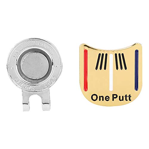 Alomejor Golfball-Marker Golf Hat Clip Zubehör für Golf-Liebhaber(1#)