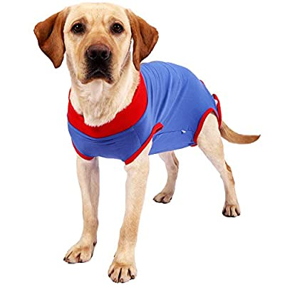 Nobranded Dog Recovery Surgery Suit for Abdominal Wounds or Skin Diseases Protector After Surgery Wear (XL)