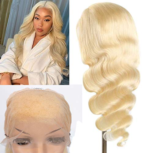 613 Blonde Body Wave Lace Front Wig Human Hair 20inch 10a 13x4 Lace Front Wig Body Wave Human Hair with Baby Hair 150% Density lace front wigs human hair (20 Inch, 613 Blonde)
