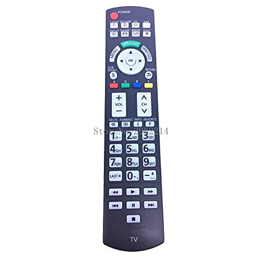 Calvas New Remote Control N2QAYB000486 suitable for Panasonic TV LED LCD TV TH32LRU20 37LRU2042 with light