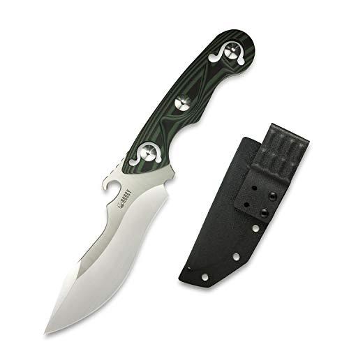 KUBEY KU250 Jagdmesser Totem Messer, Outdoor-Messer & Jagdmesser mit D2 Carbonstahl, Survival-Messer inkl. Kydex Holster, Gesamtlänge 26,8 cm (Beschichtet)