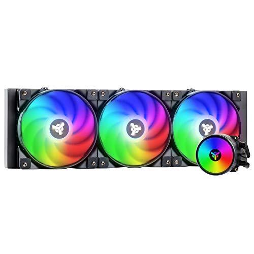 Itek - CPU EVOLIQ 360 - Sistema di raffredd. da 360mm. Dissipatore a liquido all in one (AIO), compatibilità universale, PWM e ARGB gestibile sia tramite controller che software della scheda madre