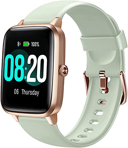 Letsfit Smart Watch: 1.3 Touch Screen Smartwatch,Fitness Trackers With Heart Rate Monitor,Waterproof IP68 Activity Trackers Watch Pedometer Stopwatch,Smart ... for iPhone Android Phon (English Edition)