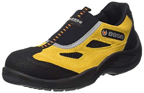 Base Protection, FOUR HOLES Calzado de Seguridad para Hombres y Mujeres, Negro y Amarillo, Talla 42