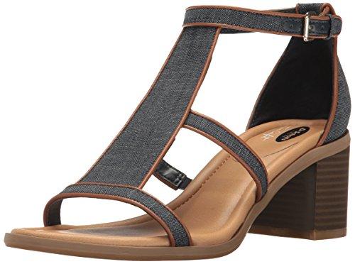 Dr. Scholl's Women's Shine Heeled Sandal, Denim, 9 M US