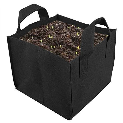 Cozyhoma Lot de 5 sacs de plantation carrés en tissu épais avec poignées pour plantes, légumes, jardin, intérieur et extérieur