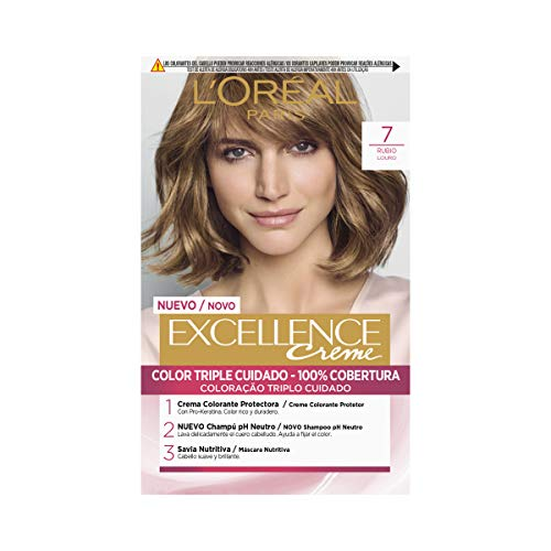 L'Oréal Paris Excellence Creme Tinte Tono 7 Rubio - 50 ml