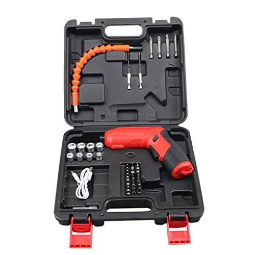 BIlinli 47 Piezas Mini Destornillador eléctrico 4V Taladro Destornillador inalámbrico con Pilas