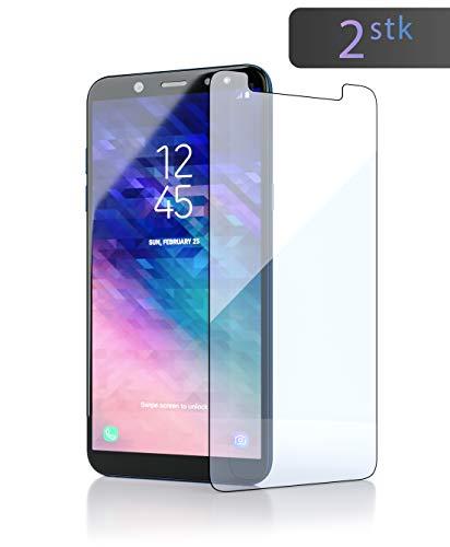 innoGadgets Panzerfolie für Samsung Galaxy A6 Plus 2018 (2X) Extrem dünn, Ultra hart (9H) & 100prozent transparent - Panzerfolie, Bildschirmschutz - Anti Fingerabdruck - Einfaches Anbringen ohne Bläschen