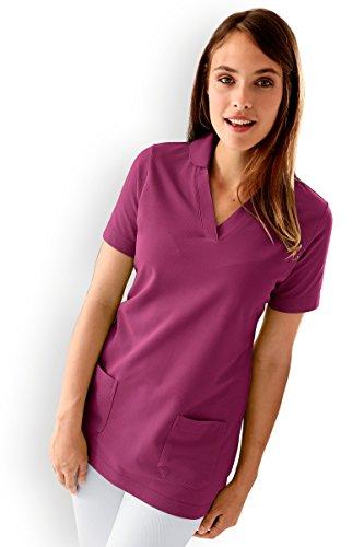 CLINIC DRESS - Damen-Longshirt Berry mit Zwei Taschen Berry 46/48