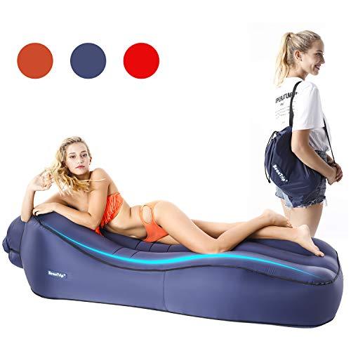 BEAUTRIP Tumbona Inflable para Interiores y Exteriores, Ideal para sofá Cama Hinchable,...
