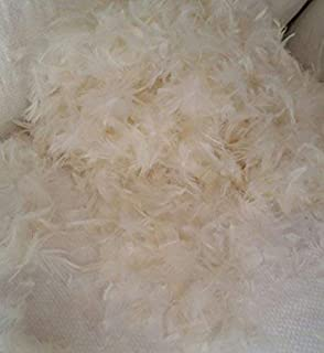 East Coast Bedding 50/50 Goose Down + Feather Stuffing & Fill – Bulk 5lb Bag – Hypoallergenic Pillow Filling, Repair, Restuff, Fluff for Couch Cushions, Comforters, Jackets (5 Lbs.)