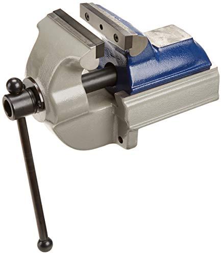 GRESSEL Schraubstock nach hinten öffnend mit glatten Backen (Typ PS, Breite 125mm, mit Amboss, Spannweite 0-150mm, Backen austauschbar)
