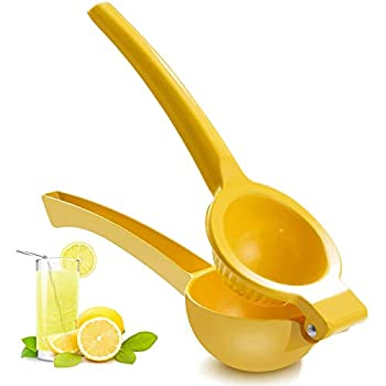 Manual Juicer Citrus Lemon Squeezer,Fruit Juicer Lime Press Metal,Professional Hand Juicer Kitchen Tool yellow)