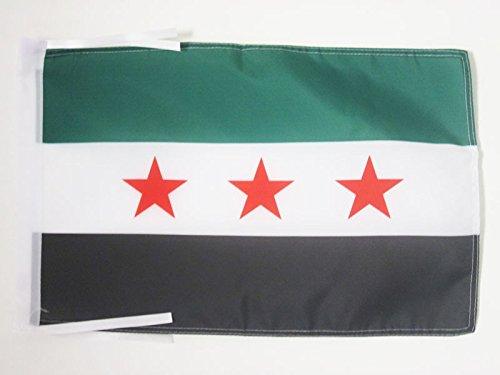 AZ FLAG Flagge FREIE SYRISCHE Armee 45x30cm mit Kordel - SYRIEN Fahne 30 x 45 cm - flaggen Top Qualität