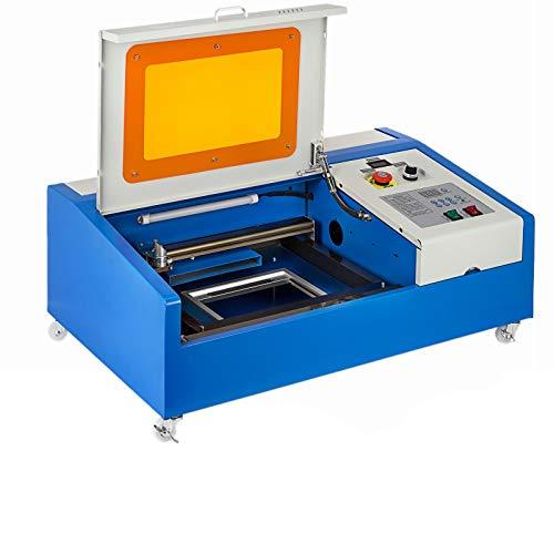VEVOR Incisore laser 40W CO2 Taglierina Laser Macchina USB Macchina per Incisione Laser Macchina per Taglio Laser Display LCD con Porta USB