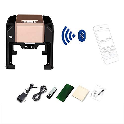 Laser Engraver, 3000MW Portable Laser Engraving Machine, Bluetooth inalámbrico Portable Laser Engraving Machine for Herramientas de Quema de Madera,Art Craft Science
