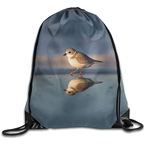 jingqi Sac Cinch Sac De Voyage,Gymsack Léger,Sacs Àcordon,Gym Sac De Plage,Sac D'École,Gregarious Wading Bird Plover Gym Sack Bag,Travel String Pull Bag,Sport Cinch Pack