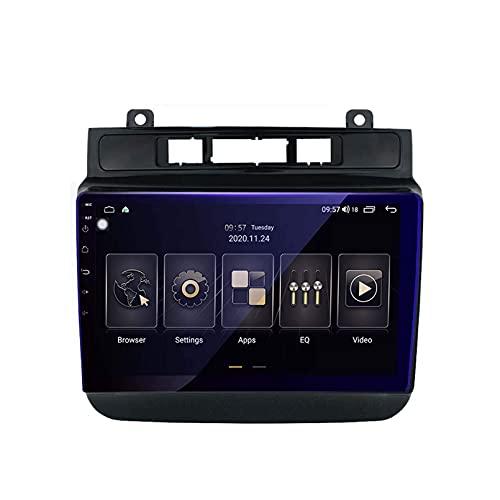 yanzz Android 9.0 Unidad Principal de Doble DIN Estéreo para automóvil para Volkswagen VW Touareg 2011-2017 Navegación GPS Pantalla táctil Reproductor Multimedia Receptor de Radio Carplay DSP RDS