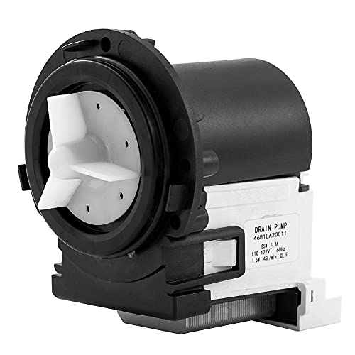 4681EA2001T Washer Drain pump Replacement Part Fit for lg and kenmore Washing Machine, Replaces 2003273, AP5328388, PS3579318, 4681EA1007D, 4681EA1007G, 4681EA2001N