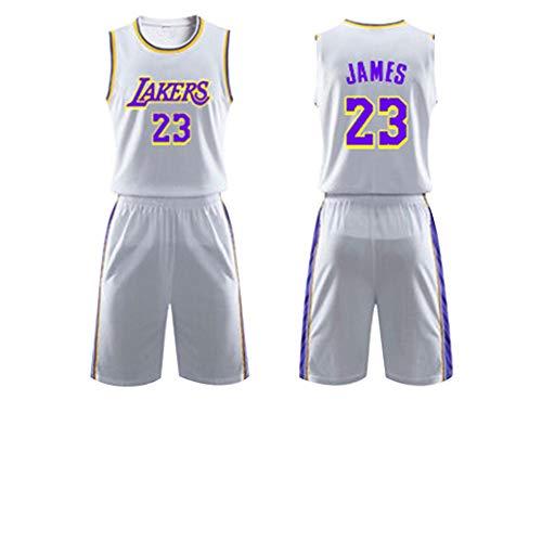 FEIGE Lakers # 23 James & # 24 Kobe Basketball Jersey Herren Sport Stickerei Mode Jersey Reguläre Saison Neue Saison Basketball Uniformen Unisex Schnelltrocknende Stoffe Fan Sportswear 6-XL