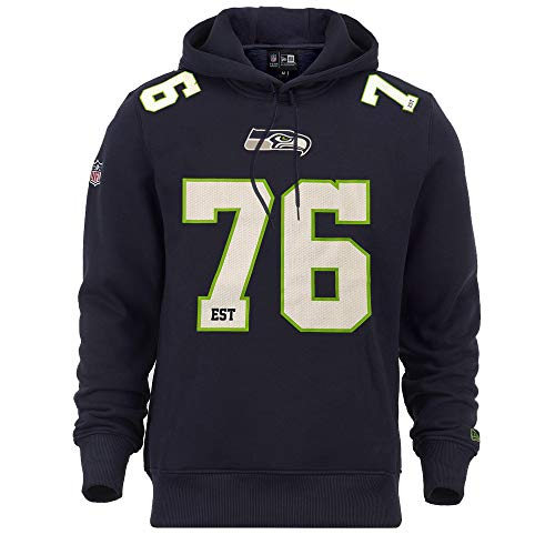 New Era Seattle Seahawks Hoody NFL Established Number Navy - L