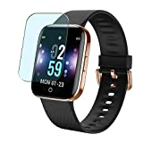 Puccy 3 Pack Anti Blue Light Screen Protector Film, Compatible with ZKCREATION X2 1.3' Smartwatch smart watch TPU Guard ( Not Tempered Glass Protectors )
